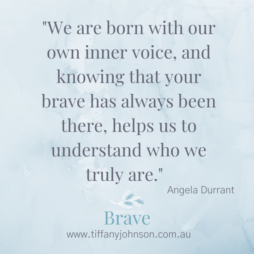When we are Brave Podcast with Tiffany Johnson interview with Angela Durrant