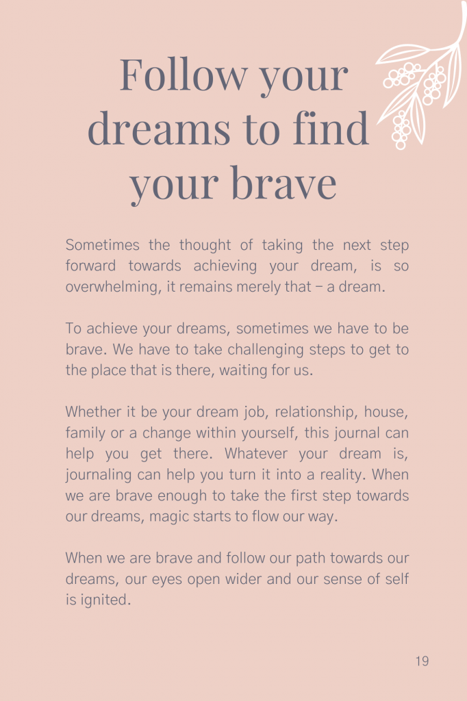 Discovering your BRAVE